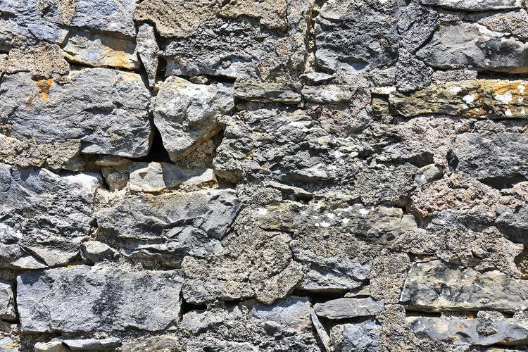 Full frame shot of rocks on wall