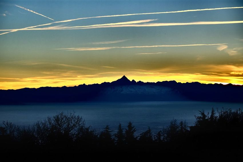 Torino Monviso Sunset Mountains (null)