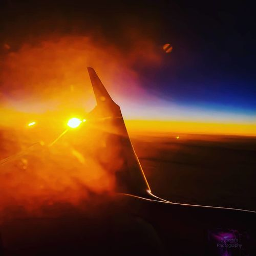Airplane City Sunset Arts Culture And Entertainment Music Illuminated Sky Travel