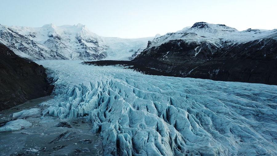 Scenic view of vatnajokull glacier