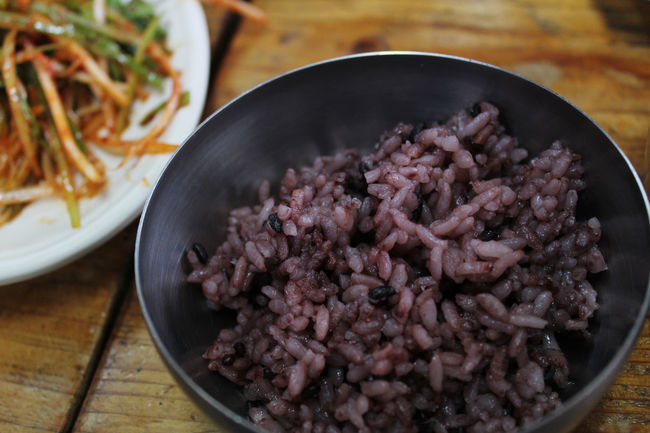 Black rice in Jeju Island, South Korea Black Rice Bowl Carbohydrate - Food Type Close-up Day Food Food And Drink Freshness Healthy Eating Indoors  JEJU ISLAND  Korean Food No People Ready-to-eat