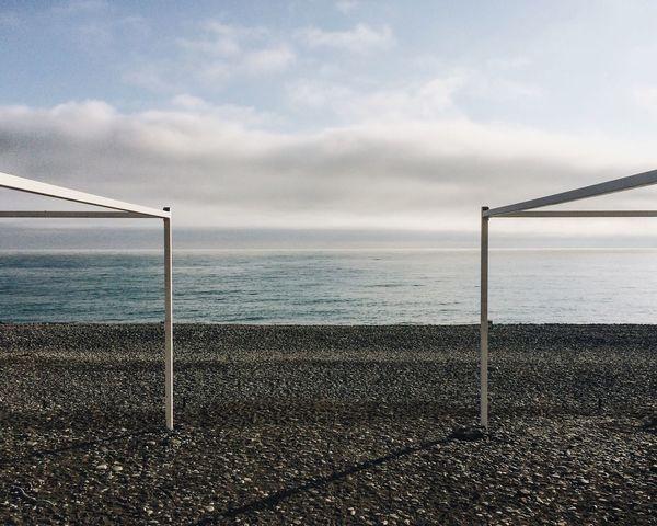Russia Caucasus Sochi Sea Black Sea Symmetry Minimalism Minimal Beach Beachphotography Beach Photography Summer Fresh On Market 2016