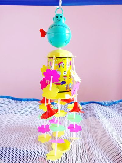Paint The Town Yellow Multi Colored Celebration Indoors  Stack No People Hanging Close-up Day Babytoy Babies Only Kidsplay Baby Joy🚼⛅ Nephew  Newbabyborn