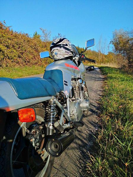 Ride in a autumn day Suzuki Katana Autumn Autumn Colors Ride Ride Or Die Ride A Bike  Sky Naturelovers Nature Outdoors Motorcycle Biker Fun Freedom