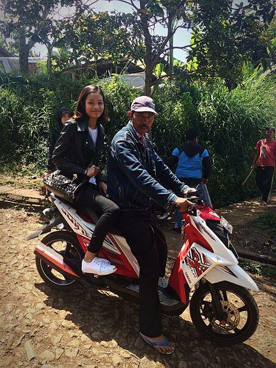 Motorbike Taxi Keraton Cliff Bandung, West Java Holiday