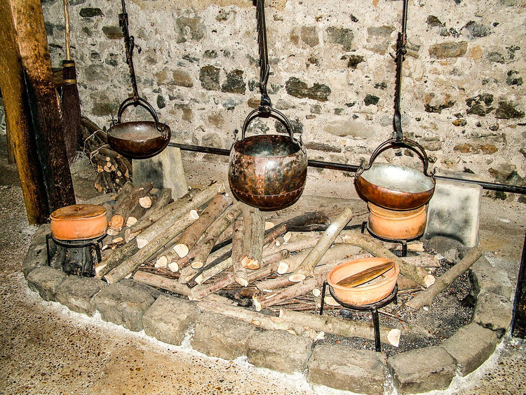 Dover, England Close-up Cooking Stove Day Dover Castle Fire Cooking Hanging Indoors  No People Stove