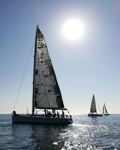 Salida de la regata Ophiusa 2017. De Sitges a Formentera...⛵⛵⛵Sailboat Silhouette Nautical Vessel Sea Water Sailing Travel Travel Destinations TranquilityNature Day Capture The Moment Horizon Over Water Cataluña Beauty In Nature Reflection Photography Good Morning! Sailing Away Panoramic Outdoors People Sky Vacations Sport Art Is Everywhere TCPM