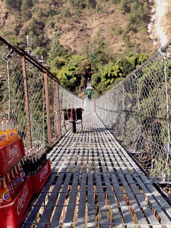 Bridge Suspension Bridge Bungy Bunjee Jumping Nepal