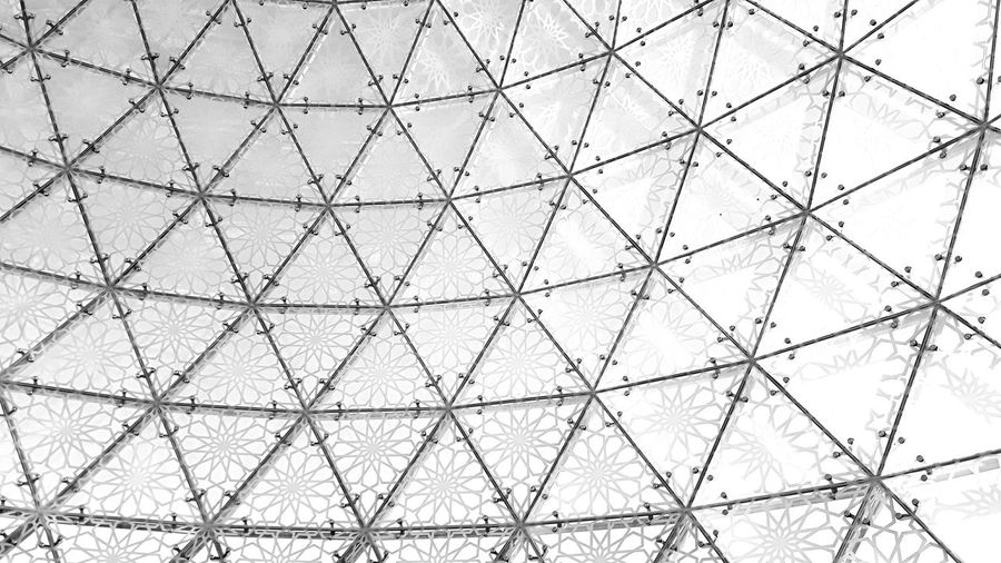 Architecture Black And White UAE Backgrounds Full Frame Textured  Pattern Abstract Metal Close-up Hexagon