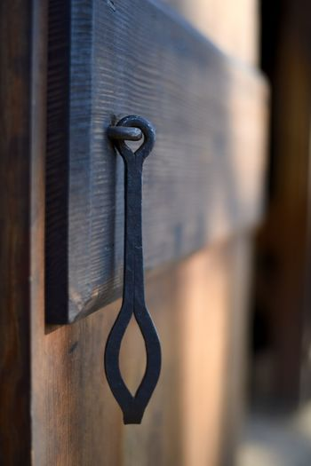 Blacksmith, Handle, Iron, No People Door, Wood, Brown, Black, Close Up, Artistic,