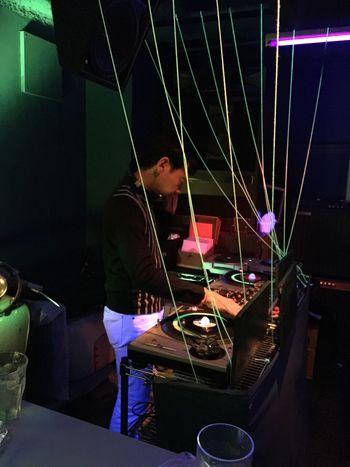 Turntables 45rpm Dj Set Nightlife Mods Party Drinks