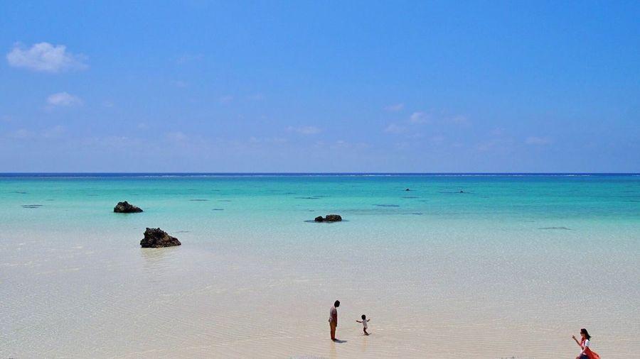 沖縄 下地島 宮古島市 What A View Summer Japan Okinawa Shimojishima Airport Shimojishima Miyakojima Sea Water Sky Beauty In Nature Beach Land Scenics - Nature