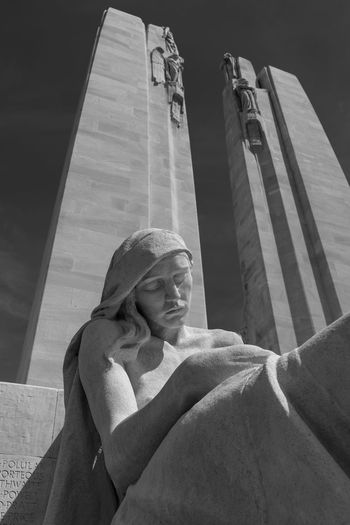 Vimy Ridge Memorial Architecture Built Structure Day Human Hand Human Representation Indoors  Low Angle View People Real People Sculpture Spirituality Statue Travel Destinations