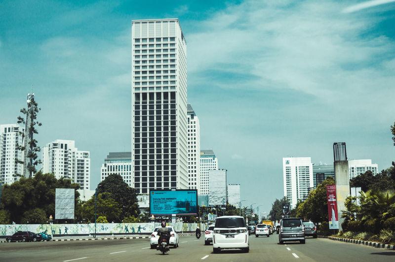 ASIA City Freshness Jakarta Road Building Buildings Cloud - Sky Day First Eyeem Photo Outdoors Sky Skycraper Street Street Photography Streetphotography