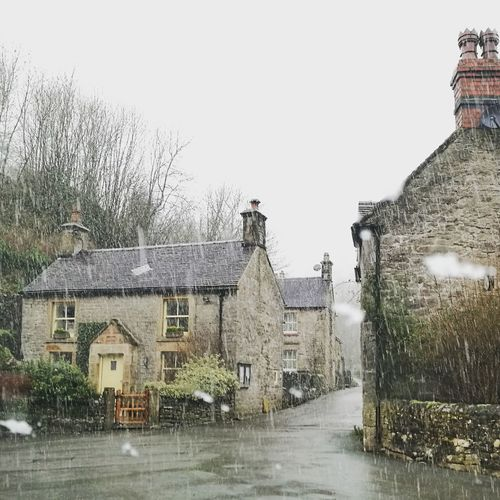 Building Exterior Outdoors National Park Extreme Weather Cottage No People Stone House Ashbourne Architecture