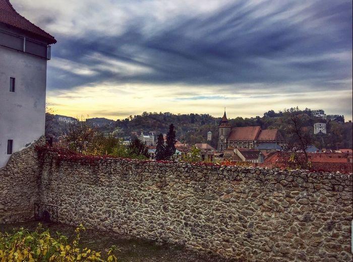 Houses against sky