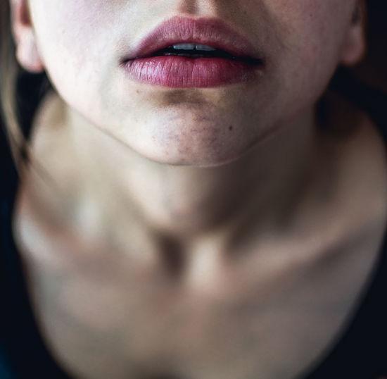 Close-up of woman lips