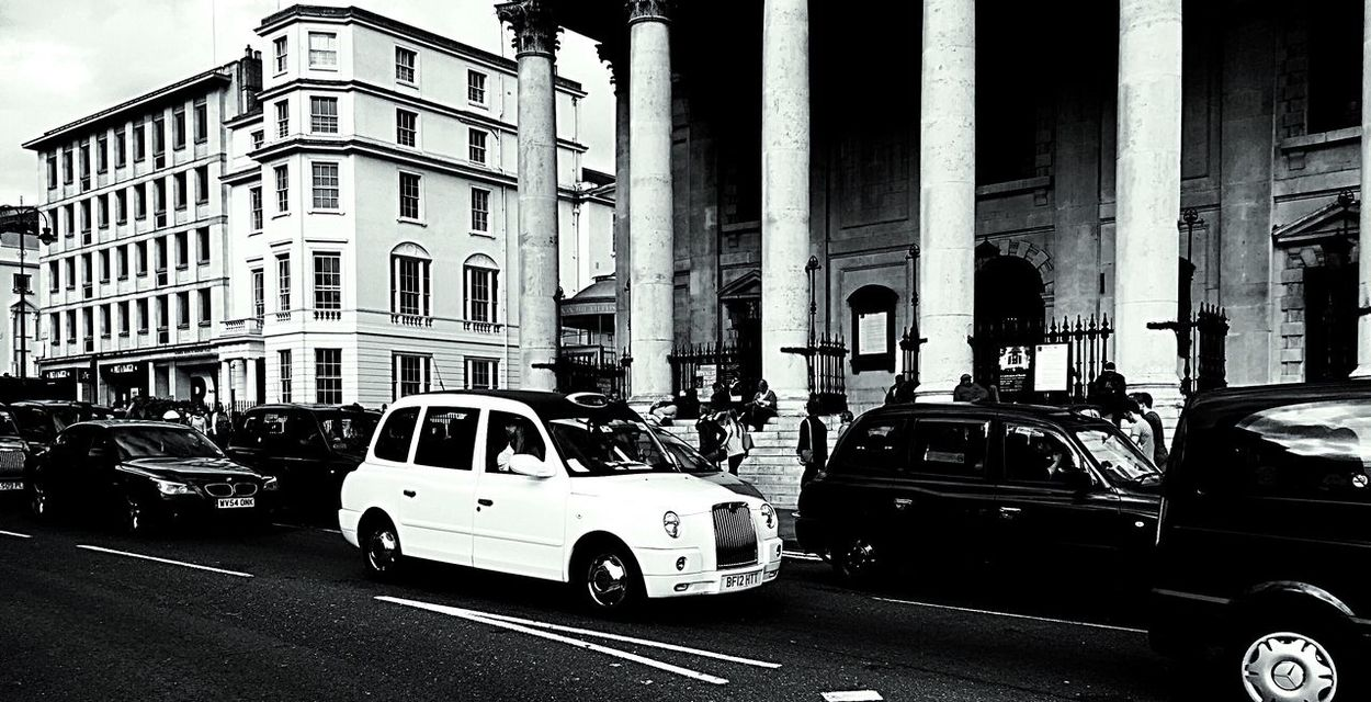 Blackandwhite Londoncab Blackcab London Contrasting Colors City Rush Hour Showcase March