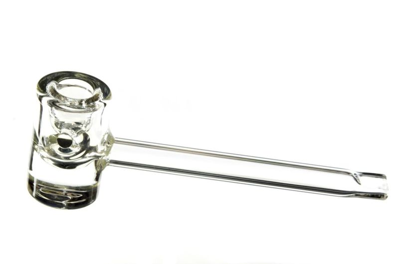 High angle view of glass of water against white background
