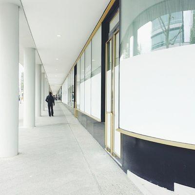BikiniBerlin Impressive Architecture Whiteonwhite with alittlebitofgold perspective strangers berlin