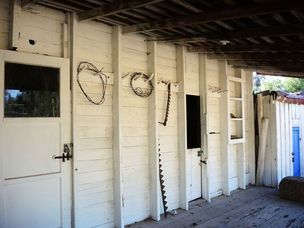 Old-fashioned Ranch Ranch Life Rancho Windmills Country House Day No People Spurs Work Gloves