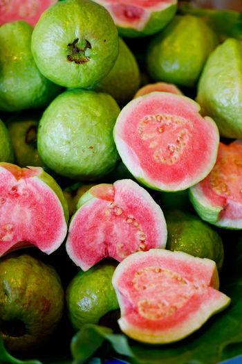 Full frame shot of guava