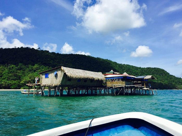 Water Sky Blue Day Outdoors Nautical Vessel Waterfront Nature Cloud - Sky No People Architecture Sea Beauty In Nature Mountain Vietnam Phu Quoc Paradise Travel Destinations Travel Relaxing Beauty In Nature