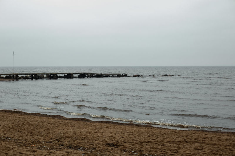 Sea Water Sky Horizon Land Beach Horizon Over Water Scenics - Nature Beauty In Nature Tranquility Tranquil Scene Nature Sand No People Motion Outdoors Idyllic Day Clear Sky Groyne