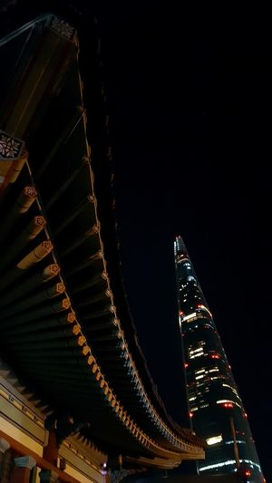 Cultures Architecture Cityscape Night Nightphotography City Of Seoul Lotteworld Tower