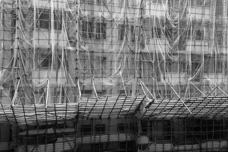 Full frame shot of building under construction