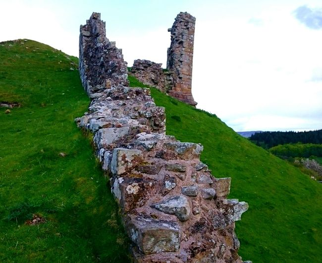 Castle Castle Ruin Historic Site Harbottle Castle Northumberland Ancient Ruins History Stone Built Days Gone By