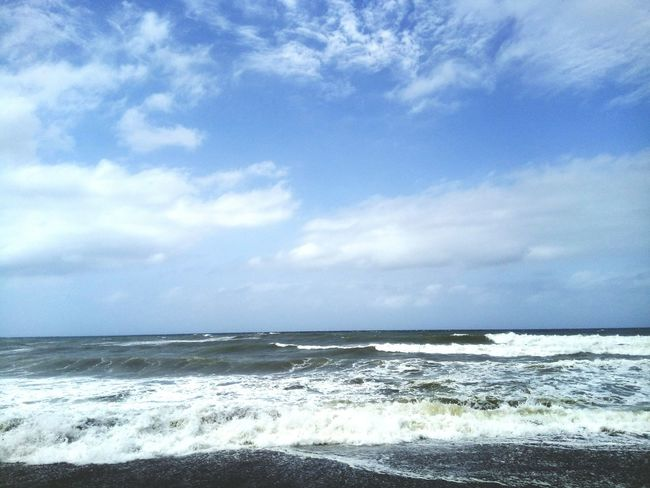 Sky Cloud - Sky Beauty Tranquility Blue Horizon Over Water Sea Nature Beauty In Nature Travel Destinations Beauty In Nature Sky Wave Water Sand Day No People Beautiful Summer Voyages Vacations Beach Algeria. Sea And Sky