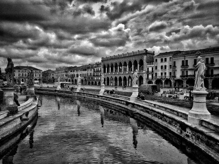 Padova, Aprile 2019 Blackandwhite City Sky And Clouds Water Water Reflections Building Exterior Built Structure Architecture