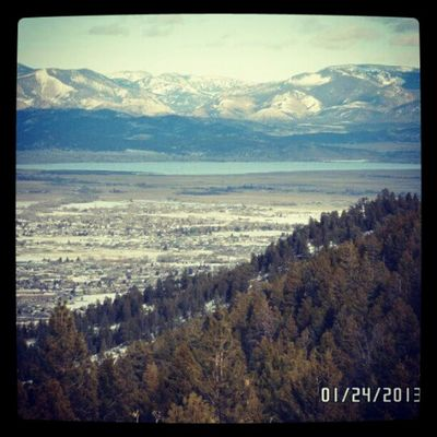 The lake Helena Montana MtHelena Mountains snowwalk