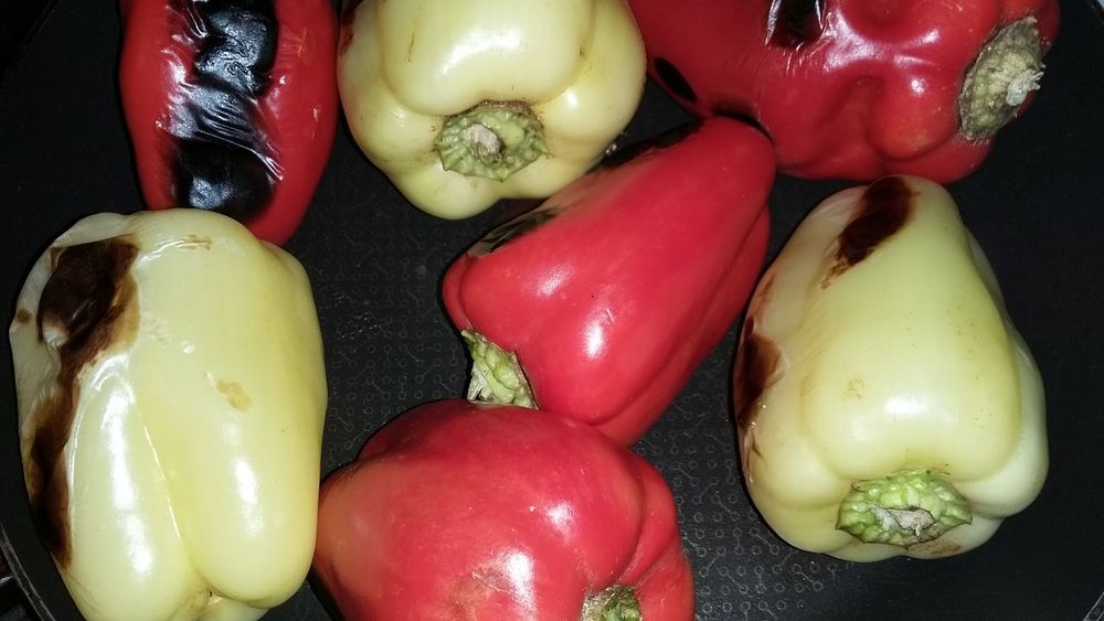 Cooking peppers. Homemade Food Meal Vegetarian Food Food And Drink Green Color Plant Close-up Freshness Fire Cooking Cooking At Home Cooking Pan