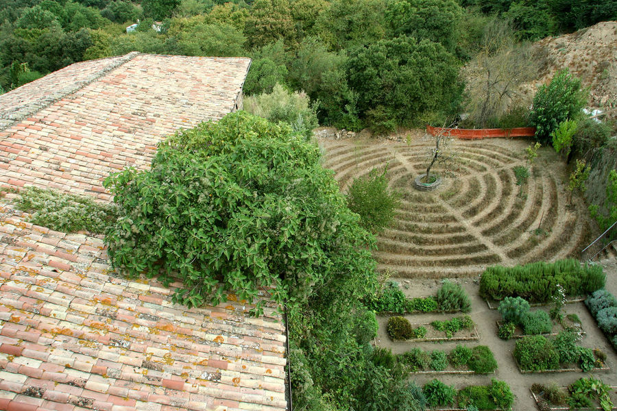 View of the garden of the simple Castle Italia Roof View Agriculture Beauty In Nature Climbing Plant Garden Garden Of The Simple Grass Green Color Growth High Angle View Lazio Nature Outdoors Plant Scenics Shingles Terraced Field Tree Vegetable Garden Vegetables Via Amerina