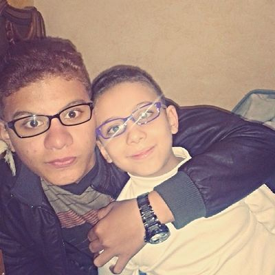 Photo Of The Day ♥♥♥♥ my little bro weared glasses Instaglasses Love U mY brO Instabrothers :D ♡♥ wonderful colour Purple Ray Ban Welcome to family xD