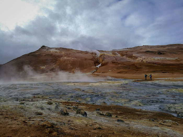 Geothermal  Lunar Landscape Mars Mountain Hot Spring Arid Climate Power In Nature Volcanic Landscape Heat - Temperature Steam Volcano Volcanic Activity Sulphur Geyser Natural Landmark Geology Physical Geography