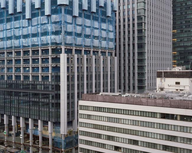 Full frame shot of modern glass building