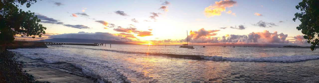 Maui Nofilter Beach Sunset Waterscape Sky Hawaii