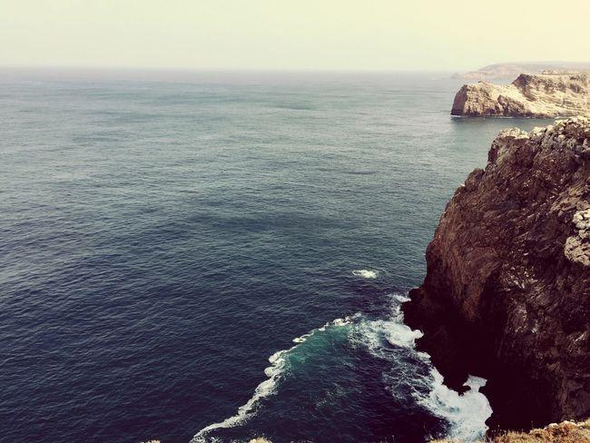 End Of Europe Portugal Vacation Meer Atlantic Ocean