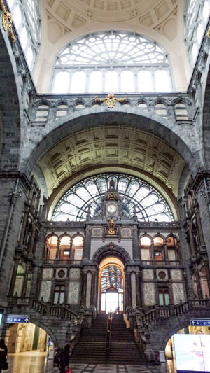 Architecture Arch Indoors  Built Structure Window Day The Past History Low Angle View Building Travel Destinations Place Of Worship Religion Spirituality Incidental People Ceiling Lighting Equipment Arched
