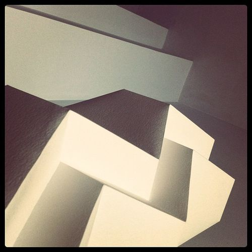 """What is hotter than a good ol' Klutsis influenced abstract geometric shot? I'm asking you. #Klutsis was da #BOSS #genius #geometric #bastard #architecture #lines and #perspective. Byw it's a #lamp and a #wall. A.k.a. """"the Office Porn"""" #officeporn. Perspective Cubism Geometric Linegasm Soviet Constructivism Brangasm Klutsis Architecture Avantguarde Lamp Lolism Wall Officeporn Lines Consturctivism Genius Bastard Boss Futurism Typo Fail"""