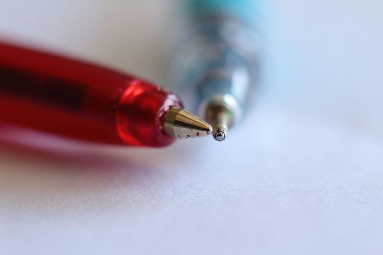 Close-up of pens