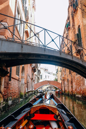 Gondola ride in venice italy Venice Italy Venice, Italy Travel Destinations Travel Architecture Built Structure Transportation Bridge Connection Bridge - Man Made Structure Building Exterior Mode Of Transportation City Nature Day Arch Water River No People Sky Outdoors Arch Bridge Canal Gondola - Traditional Boat