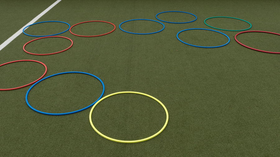 Court Games Grass Childhood Circle Circles Circles Pattern Close Up Close-up Corcle Day Game Go-west-photography.com Green Color High Angle View Hoola Hoop Hoolahoop No People Outdoors Ring Rings Soccer Soccer Field Sport