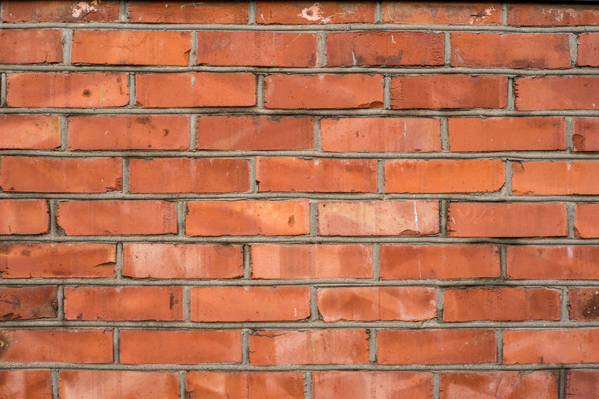 Brick wall Red Red Brick Wall Wall Architecture Backgrounds Brick Brick Wall Building Exterior Built Structure Close-up Day Full Frame No People Orange Color Outdoors Paint Pattern Red Textured  Wall - Building Feature The Graphic City