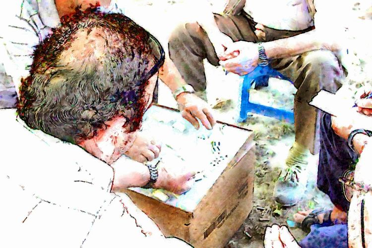 Domino players in the park Albania Domino Art Art And Craft Artist Close-up Creativity Digital Art Digital Painting Domino Players Human Hand Leisure Activity Paint Paintbrush People Real People Watercolor Watercolor Painting Watercolour Painting