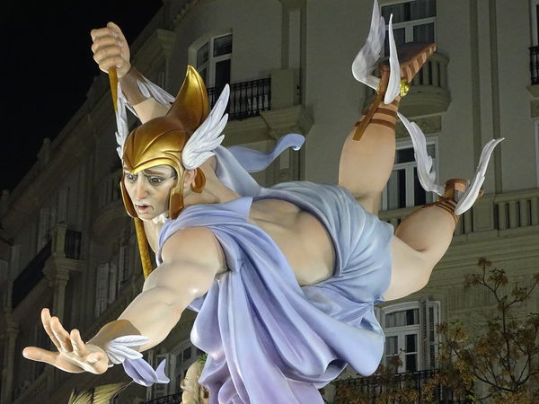 Statue Hermes Falla Almirante Cadarso-conde De Altea UNESCO World Heritage Site Falles2017 Travel Destinations Outdoors No People Popular València Taking Photos Popular Photos SPAIN Statue Esculpture Travel Fallasunesco