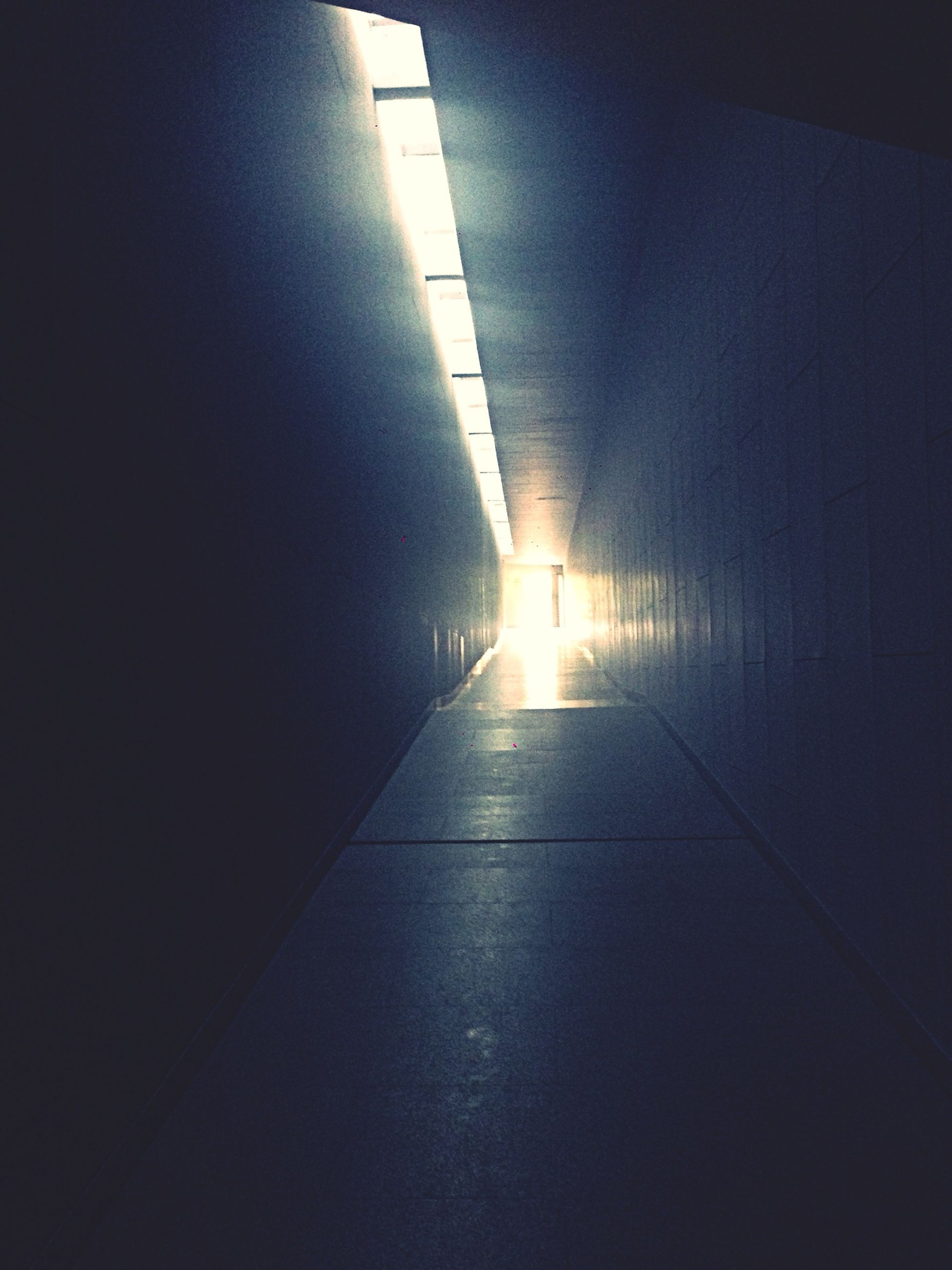 indoors, the way forward, architecture, built structure, empty, wall - building feature, illuminated, sunlight, lighting equipment, corridor, diminishing perspective, ceiling, no people, flooring, absence, tiled floor, shadow, light - natural phenomenon, vanishing point, building